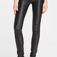 Women's Rick Owens Stretch Leather Leggings,