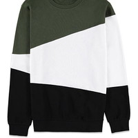 Asymmetrical Colorblock Sweatshirt