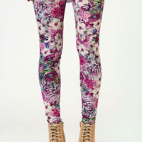 Lillian Photographic Floral Leggings
