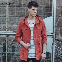 Hooded Thin Jackets Men Young Men Fashion Outerwear Hooded Slim Jacket Casual