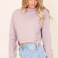 City Of Angels sweater in mauve Produced By SHOWPO