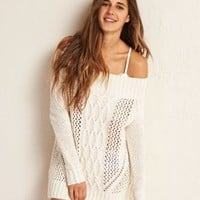 Don?t Ask Why Hi-Low Sweater , Wine | American Eagle Outfitters