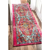 nuLOOM Distressed Abstract Vintage Oriental Multi Runner Rug (2'6 x 8') - Free Shipping Today - Overstock.com - 17854730 - Mobile