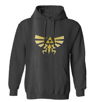 The Legend of ZELDA Triforce logo Nintendo gamer hoodie for Mens Hoodie and Womens Hoodie ***