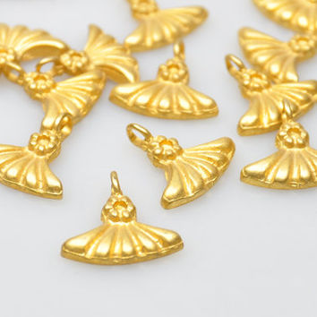 5 Pieces Gold Plated Charms, Jewelry Making Supply, Jewelry Drops, Jewelry Findings