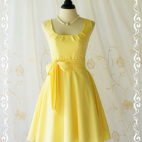 My Lady - Lovely Pale Yellow Sundress Spring Summer Dress Vintage Design Yellow Party Dress Tea Dress Pale Yellow Bridesmaid Dresses XS-XL