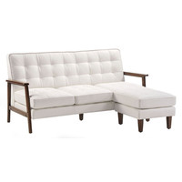 Soho Flat Flex Sectional White