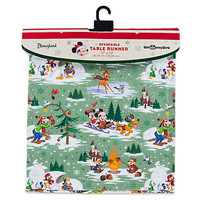 Santa Mickey Mouse and Friends Happy Holidays Reversible Table Runner | Disney Store