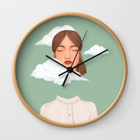 Head in the Clouds Wall Clock by marylobs