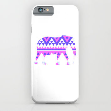 Elephant Tribal  iPhone & iPod Case by Ashley Hillman