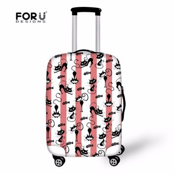 FORUDESIGNS Black Cats Case Cover For Trunk Cute Travel Suitcase Thick Elastic Covers Luggage Protective Covers With Zipper New