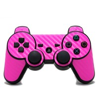 Playstation 3 Remote Cover/Skin - Carbon Fiber Pink from Slickwraps