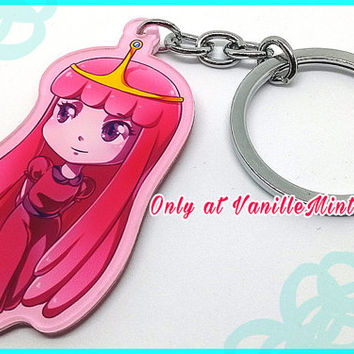Princess Bubblegum PB Adventure Time Acrylic Keychain Charm 2.5 inch