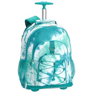 Gear-Up Ceramic Pool Tie-Dye Rolling Backpack