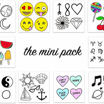 Mini Pack Temporary Tattoos