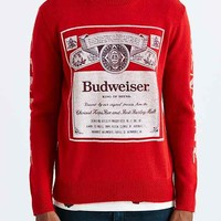 Junk Food Budweiser Crew Neck Sweater- Red