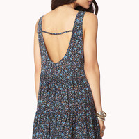 Dainty Floral Trapeze Dress