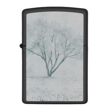 Winter Tree Zippo Lighter