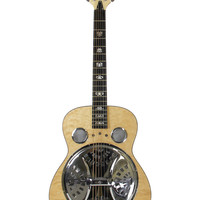 Dean Spider Quilt Maple Resonator Guitar - Gloss Natural