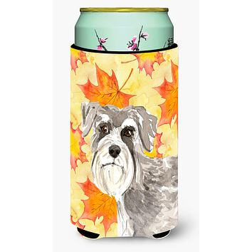 Fall Leaves Schnauzer #1 Tall Boy Beverage Insulator Hugger CK1829TBC