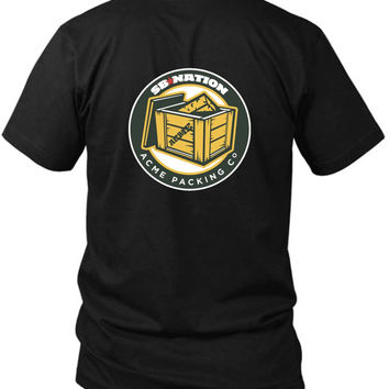 Green Bay Packers 2 Sided Black Mens T Shirt