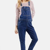 Women's Topshop Denim Maternity Overalls ,