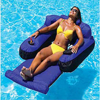 Swimline Fabric Covered Swimming Pool & Lake, Pond Floating Chair & Lounge