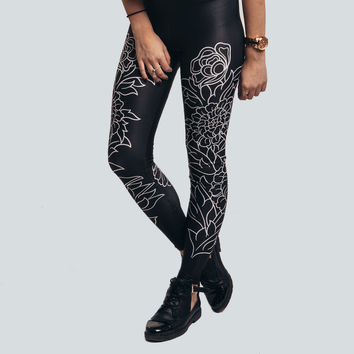 Black Stabbath Leggings