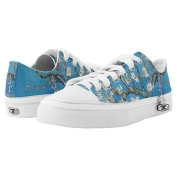 Almond Blossoms Blue Vincent van Gogh Art Painting Printed Shoes