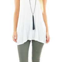 BCBGeneration | drape-back tank top