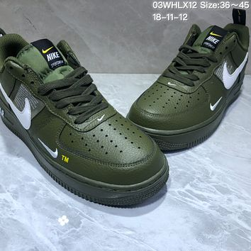 KUYOU N786 Nike Air Force 1 AF1 LV8 NBA Pack Casual Skate Shoes Green
