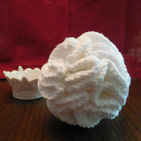 Cotton Spa Bath Puff, Shower Pouf - White - Handcrafted Crochet - Spring, Easter, Mother's Day, Spa Bath Gift - Ready to Ship