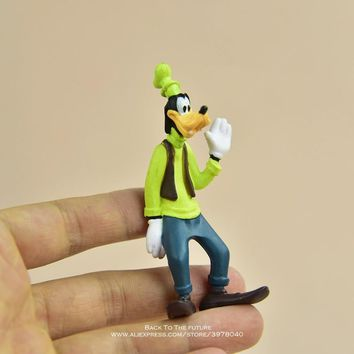 Disney Mickey Mouse Goofy 8cm Model Anime Doll PVC Action Figures Accessories Figurines Toys For Kids Gift Children Toy