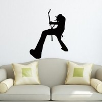 Wall Decals Boy Rock Star Decal Vinyl Sticker Home Decor Bedroom Interior Window Decals Living Room Art Murals Chu1321