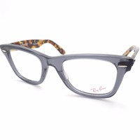 Ray Ban 5121 5629 Transparent Grey Havana Eyeglass Frame New Authentic