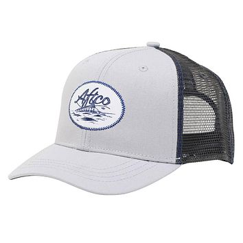 Finner Trucker Hat in Silver by AFTCO
