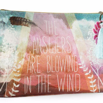 """Large """"Answers"""" Tassel Pouch"""