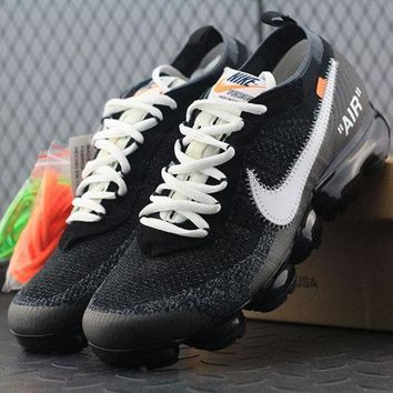 ONETOW Best Online Sale OFF WHITE x  Nike Air VaporMax Vapor Max 2018 Flyknit Men Women Sport Running Shoes AA3831-001