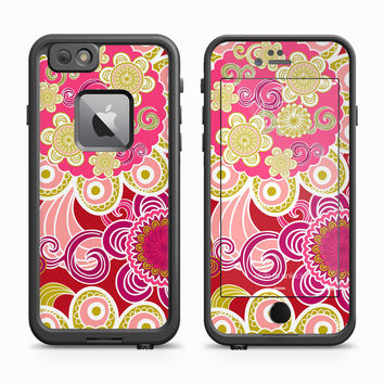 Red Flower Petal Pink Blowout Skin for the Apple iPhone LifeProof Fre Case