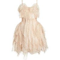 Nina Ricci Ruffled Cocktail Dress