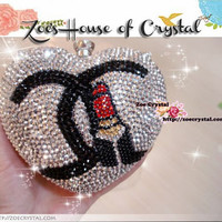 Crystallized Heart Shaped Clutch Bag with Chanel Crystal Clutch bag - ZoeCrystal