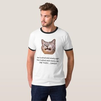 Funny Cat Gym T-shirt (Men's) - One Thousand Reps!