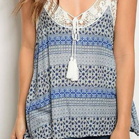 Crochet Paisley Sleeveless Top