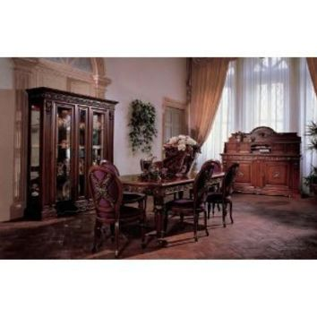 San Marco Dark Walnut Dining Set 8 Piece