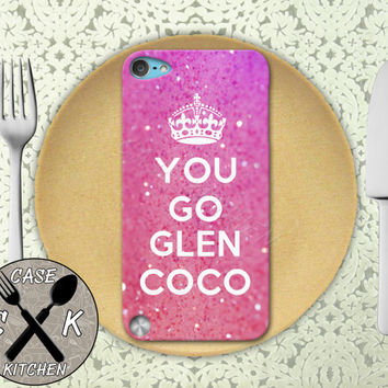You Go Glen CoCo Funny Quote Pink Sparkle Glitter Custom Rubber Case iPod 5th Generation and Plastic Case For The iPod 4th Generation