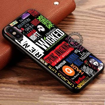 Broadway Musical Collage iPhone X 8 7 Plus 6s Cases Samsung Galaxy S8 Plus S7 edge NOTE 8 Covers #iphoneX #SamsungS8