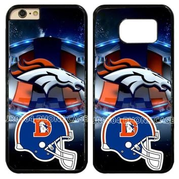 DENVER BRONCOS Helmet Logo PC+TPU Edge Cell Phone Case Cover Fits For iphone XS MAX XR x 5 5s 6 6s 6 plus 7 8 plus #0260 NEW