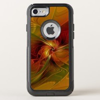 Abstract Red Orange Brown Green Fractal Art Flower OtterBox Commuter iPhone 8/7 Case