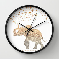 ELEPHANT Wall Clock by Monika Strigel