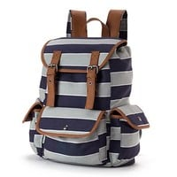 Candie's Varsity Striped Cargo Backpack